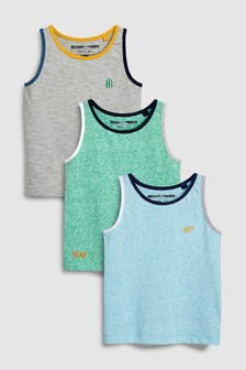 Marl Vests Three Pack (3mths-6yrs)