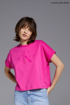 Calvin Klein Jeans Pink Tonal Monogram T-Shirt