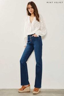 Jean boot cut Mint Velvet Bellflower bleu indigo