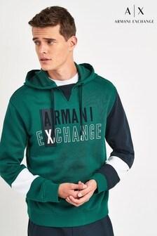 Armani Exchange Green Logo Hoody