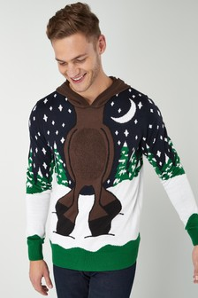 Reindeer Christmas Dress-Up Hoody