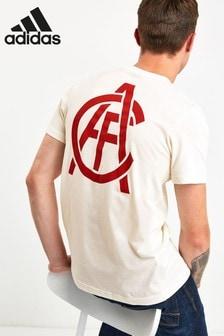 adidas White Arsenal Football Club Graphic Tee