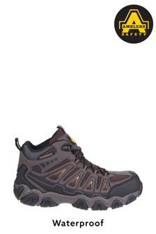Amblers Safety Brown AS801 Waterproof Safety Hiker Boots