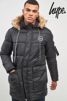 Hype. Black Explora Padded Jacket