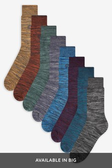 Marl Socks Eight Pack