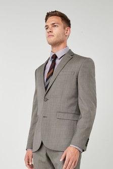 Slim Fit Wool Blend Suit: Jacket
