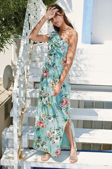 One Shoulder Maxi Dress