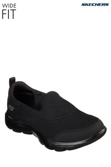 393e1c5b0146 Skechers® Wide Fit Black Go Walk Evolution Shoe
