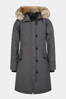 Canada Goose Girls Youth Britannia Grey Parka Coat