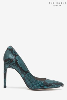 Ted Baker Black Snake Print Court Shoes
