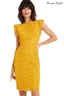 Phase Eight Yellow Primrose Lace Dress