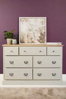 Huxley Painted 7 Drawer Wide Chest