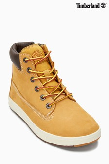 Timberland® Wheat Kids Davis Square 6 Inch Boot