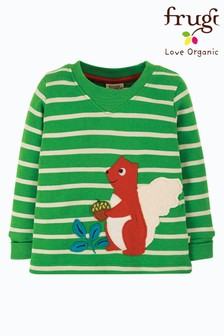 Frugi Green GOTS Organic Easy Dressing Long Sleeve Top