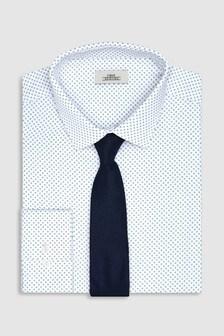 Print Shirt And Tie Set