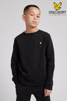 Lyle & Scott Black Classic Crew Neck Fleece Sweatshirt