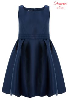 Monsoon Navy Mila Bow Prom Dress