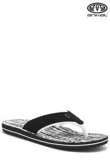 Animal Swish Black Printed Flip Flop