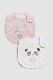 Mummy And Daddy Regular Bibs Two Pack