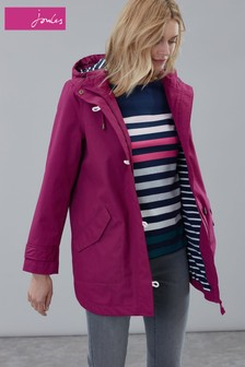 Joules Purple Coast Mid Length Waterproof Jacket