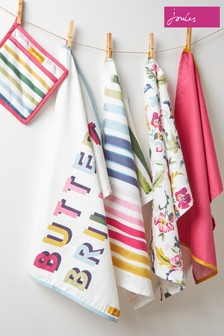 3 Pack Joules Bee And Striped Tea Towel Set