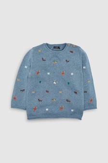 Embroidered Character Jumper (3mths-6yrs)