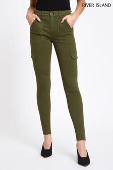 River Island Khaki Amelie Utility Jungle Trouser