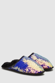 Sequin Mule Slippers