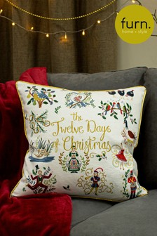 Twelve Days of Christmas Cushion by Furn