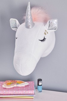 Plush Unicorn Wall Head