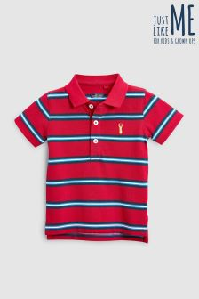 Short Sleeve Stripe Polo (3mths-6yrs)