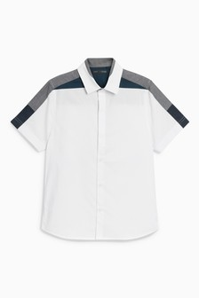 Short Sleeve Shoulder Detail Shirt (3-16yrs)