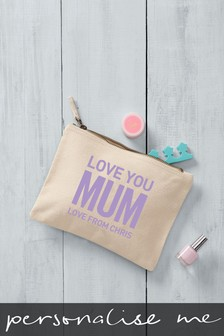 Personalised Love You Mum Cosmetic Bag