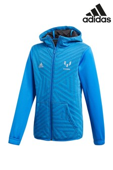 adidas Blue Zip Through Hoody