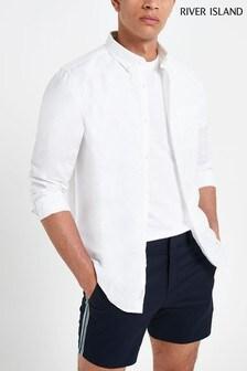 River Island Long Sleeve Linen Shirt