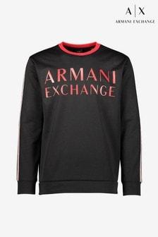 Черная толстовка с отделкой тесьмой Armani Exchange