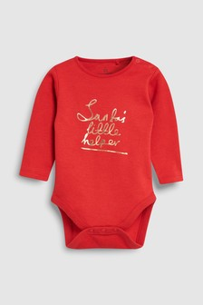 Santa's Little Helper Long Sleeve Bodysuit (0mths-2yrs)