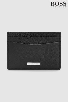 BOSS Black Signature Collection Card Holder