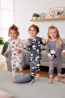 Set de 3 pijamale cu imprimeu panda (9 luni - 8 ani)