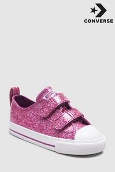 Converse Pink Glitter Ox Trainer