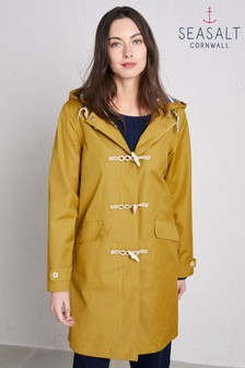 Seasalt Yellow Extra Long Seafolly Jacket Pear