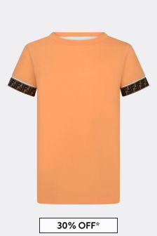 Kids Orange Cotton T-Shirt