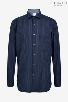 Ted Baker Navy Diamond Shirt
