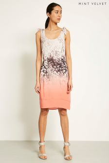 Mint Velvet Orange Meadow Print Cocoon Dress
