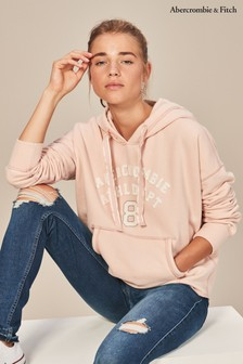 Abercrombie & Fitch Pink Cropped Hoody
