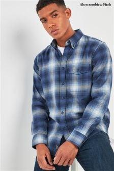 Granatowa koszula w kratkę Abercrombie & Fitch