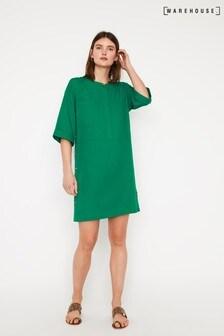 Warehouse Boxy Button Side Mini Dress