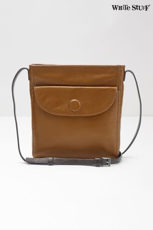 White Stuff Tan Mimi Leather Crossbody Bag
