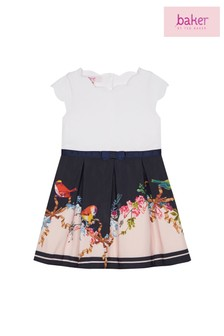 baker by Ted Baker Toddler Girl Navy Printed Dress