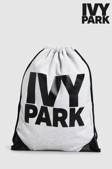 Ivy Park Grey Logo Drawstring Bag